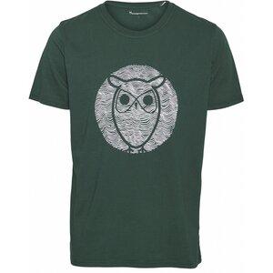 T-shirt - ALDER wave owl tee  - KnowledgeCotton Apparel