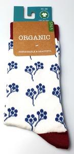 """GOTS zertifizierte Biobaumwolle Socken mit """"Blumen"""" Print - VNS Organic Socks"""