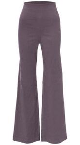ERIN Hose mit weitem Bein aus BIO Baumwoll-Twill (grau) - Ingoria
