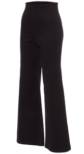 ERIN Hose mit weitem Bein aus BIO Baumwoll-Twill (schwarz) - Ingoria