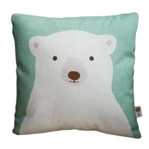 Kissen Eisbär aus Bio-Baumwolle - TELL ME
