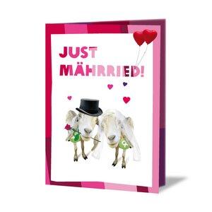 Ziegenpärchen (Hochzeitskarte) - OxfamUnverpackt