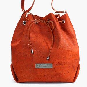 TASCHE aus Korktextil // Orange - Belaine Manufaktur