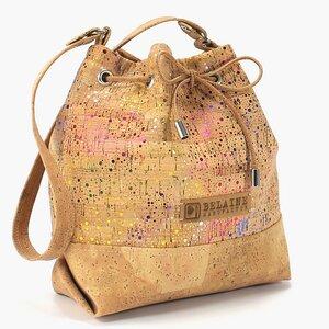 Handtasche aus Kork // mit Glitzer - Belaine Manufaktur