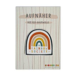 Aufnäher Regenbogen 'The Rainbow Society' aus Bio-Baumwolle - TELL ME