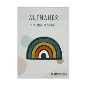 Aufnäher Regenbogen aus Bio-Baumwolle - TELL ME