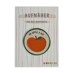 Aufnäher Apfel 'An Apple A Day' aus Bio-Baumwolle - TELL ME
