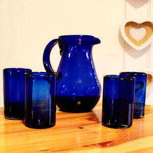 Gläser 4er Set kobaltblau | 13 cm - Mitienda Shop