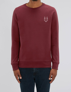 Pullover mit besticktem Fuchs - Männer - Róka - fair clothing