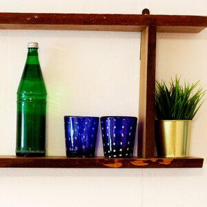 Gläser 4er Set gepunktet blau | Universalglas - 10 cm - Mitienda Shop