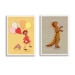 Postkarten-Set Belle & Boo - 1973