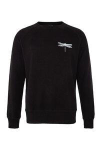 Fair gehandelter Unisex Raglan Sweater mit kleiner Libelle black ILP01 - ilovemixtapes