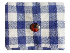 Leesha WILDe Upcycling Tampon Tasche Blaublütig - Leesha