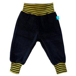 Baby Gemütlichkeitshose Marine mit Ringelbündchen - bingabonga®