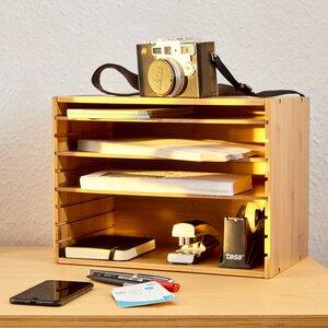 Ablagesystem für den Schreibtisch Dokumentenablage Briefablag - Bambuswald