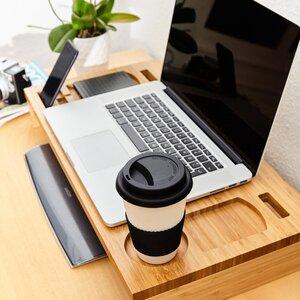 Bambus Bildschirmständer Monitorständer Bildschirmerhöhung Organiser - Bambuswald