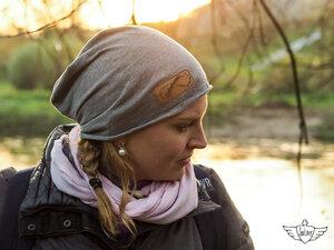Weltenbummler Beanie MÜTZ in grau aus Bio Baumwolle und vegan - Soulcover