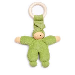 Nanchen Pimpel mit Beißring Bio-Baumwolle/Bio-Schurwolle - Nanchen