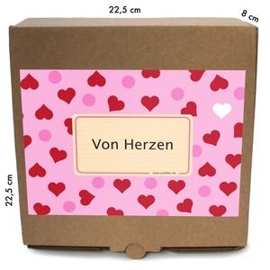 """Geschenkverpackung """"von Herzen"""", Bio Trockenfrüchte und Nüsse - Jalall D´or"""
