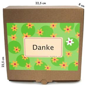 """Geschenkverpackung """"Danke"""", Bio Trockenfrüchte- und Nüssemischungen - Jalall D´or"""
