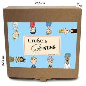 """Geschenkverpackung """"Grüße und Genuss"""", BioTrockenfrüchte und Nüsse - Jalall D´or"""