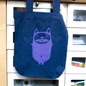 'Mr.Cat' Shopper aus BIO-BAUMWOLLE  - shop handgedruckt