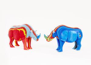 Tierfigur Rhino aus FlipFlops - Ocean Sole