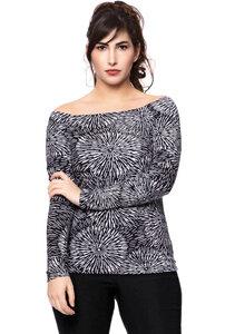 MELISSA Off-Shoulder Shirt aus seidigem Modal-Jersey in (Alisea) - Ingoria