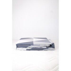 Bettbezug + 2 Kissenbezüge aus Bio-Baumwolle mit Dreiecksmuster 240 x 260 cm - Kadolis