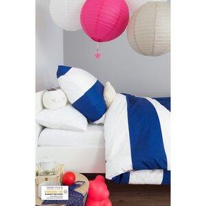 Bettbezug aus Bio-Baumwolle mit blauen und weißen Streifen + Kissenbezug - Kadolis