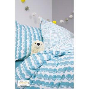 Bettbezug Baby Blue Kieselsteine + Kissenbezug Bio-Baumwolle - Kadolis