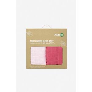 2 Maxi ultra weiche Windeln aus Bio-Baumwolle United - Kadolis