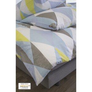 Bettbezug + 2 Kissenbezüge aus Bio-Baumwolle mehrfarbig 240 x 260 cm - Kadolis