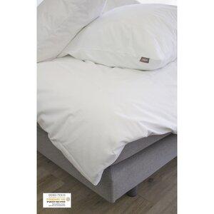 Bettbezug + 2 schlichte Kissenbezüge aus Bio-Baumwolle 220 x 240 cm - Kadolis