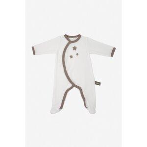 Baby-Pyjama aus weißer Bio-Baumwolle mit Sternenmuster - Kadolis