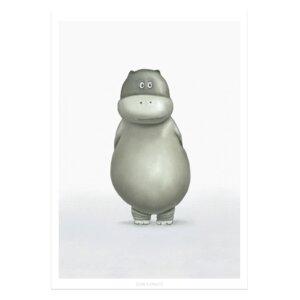 """Poster - Bild mit Hippo """"Dorina"""" - Dori´s Prints"""