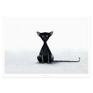 """Poster - Bild mit Katze """"Blacky""""  - Dori´s Prints"""