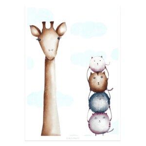 Poster - Bild mit Giraffe - Dori´s Prints