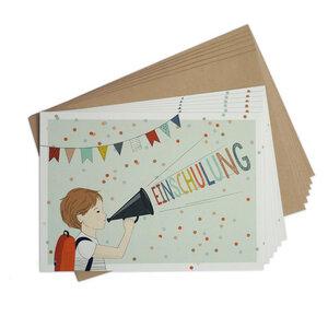 Einladungskarten-Set zur Einschulung Junge - TELL ME