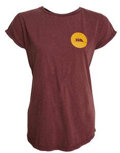 T Shirt Frauen aus Biobaumwolle, Fair Vegan Bordeaux stone washed - MAREGAARD