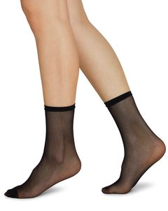 ELVIRA Netzsocken schwarz - Swedish Stockings