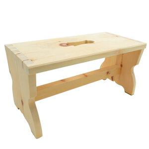 Schemel aus Zirbenholz | Tischlerhandwerk aus der Steiermark | 40x20 cm - 4betterdays