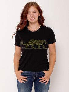 "Ecovero®-Damen-T-Shirt ""Leopard"" - Peaces.bio - Ecovero® - handbedruckt"
