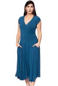 CLARA 50s Swing Kleid mit Tellerrock (aqua) - Ingoria