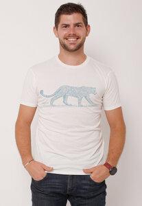 "Ecovero®-Herren-T-Shirt ""Leopard"" - Peaces.bio - Ecovero® - handbedruckt"