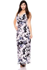 BELLA wendbares Maxi Kleid aus Modal-Jersey in Anemone aquarell - Ingoria