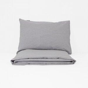 Bio-Baumwolle und Leinen Baby-Bettbezug + Kissenbezug - Kadolis