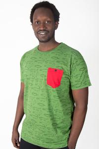 """Kipepeo Männer Shirt """"Crocodiles"""". Handmade in Kenya. - Kipepeo-Clothing"""