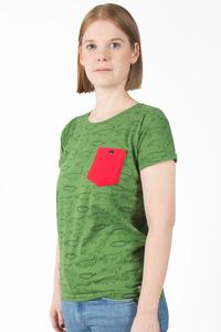 "Kipepeo Frauen Shirt ""Crocodiles."" Handmade in Kenya. - Kipepeo-Clothing"