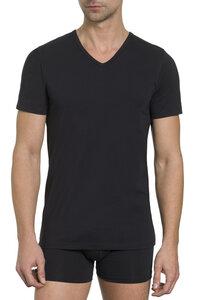 Herren Basic Shirt V-Ausschnitt Single Jersey 2er Pack Baumwolle/Elasthan - Haasis Bodywear